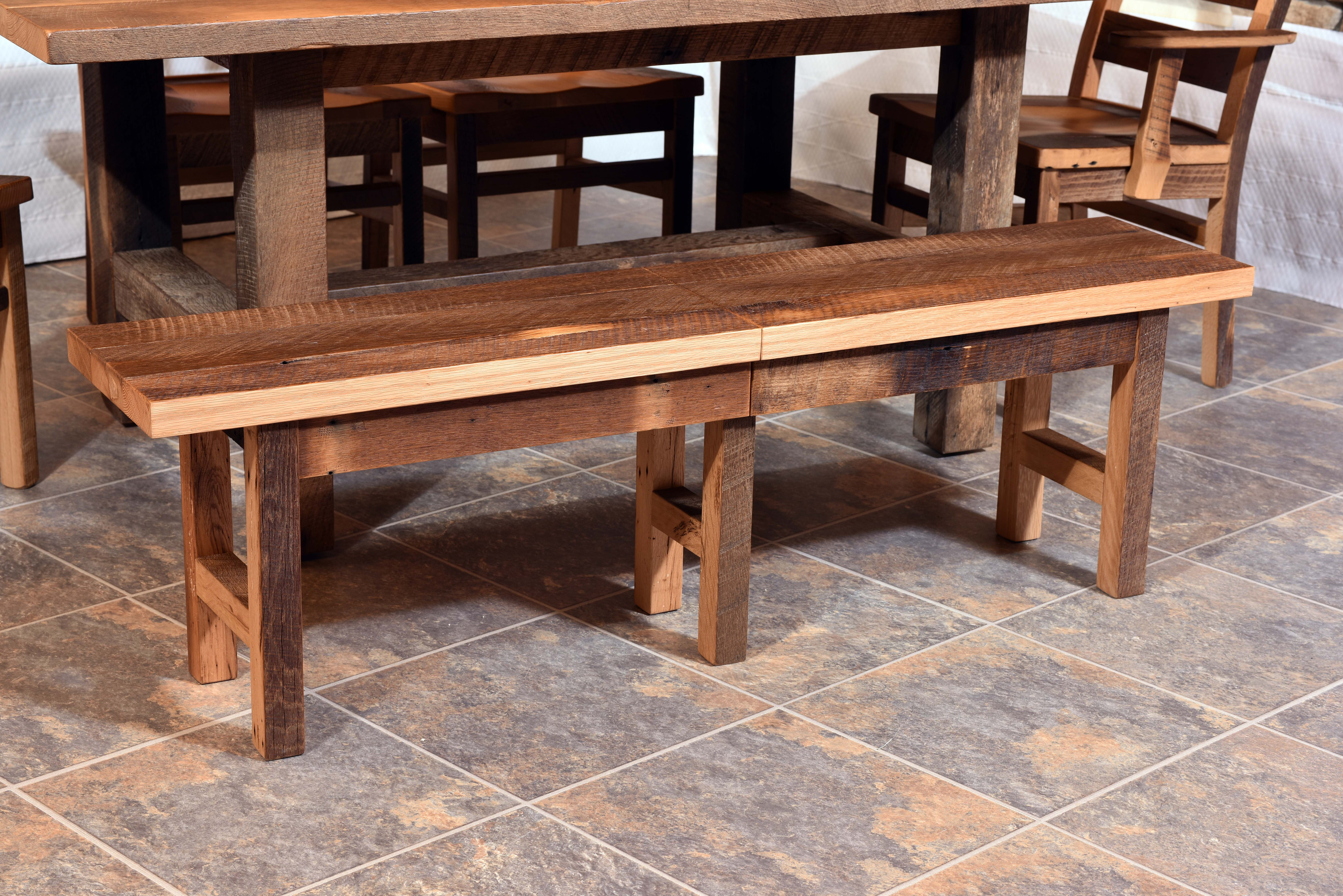 Barnwood Extend-A-Bench Product