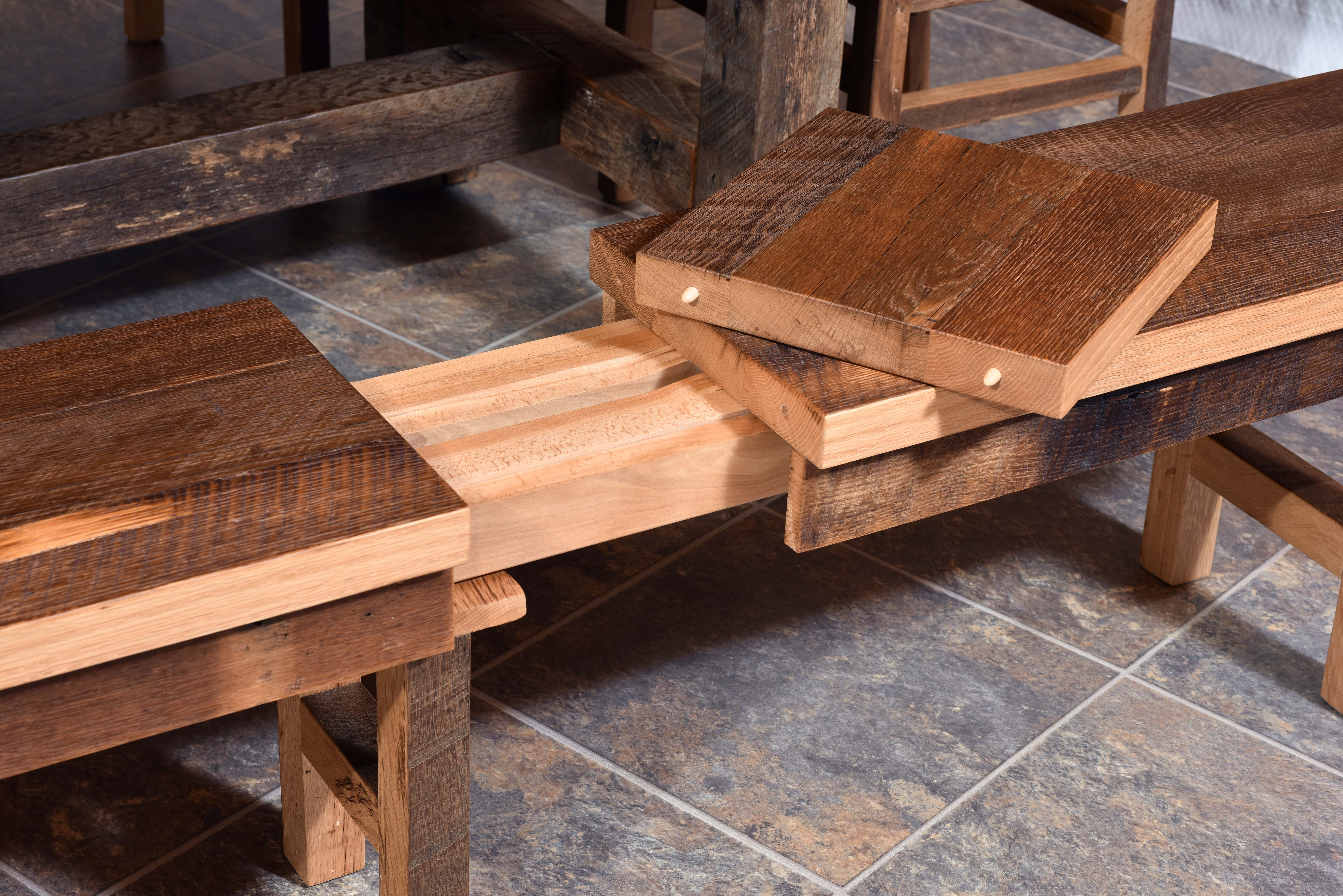 Barnwood Extend-A-Bench - Product Alternate Image