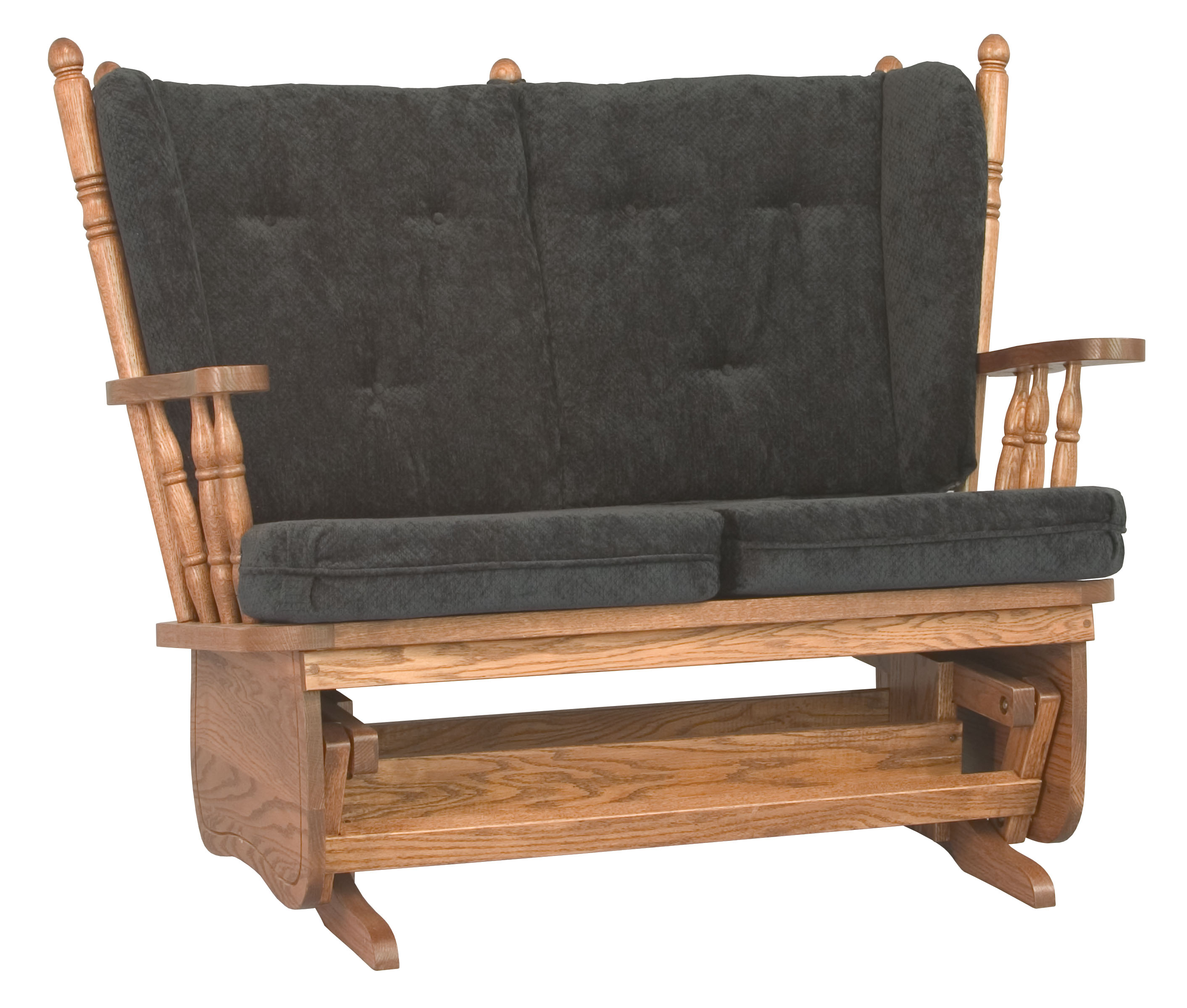 4 Post Loveseat Glider Hardwood Creations