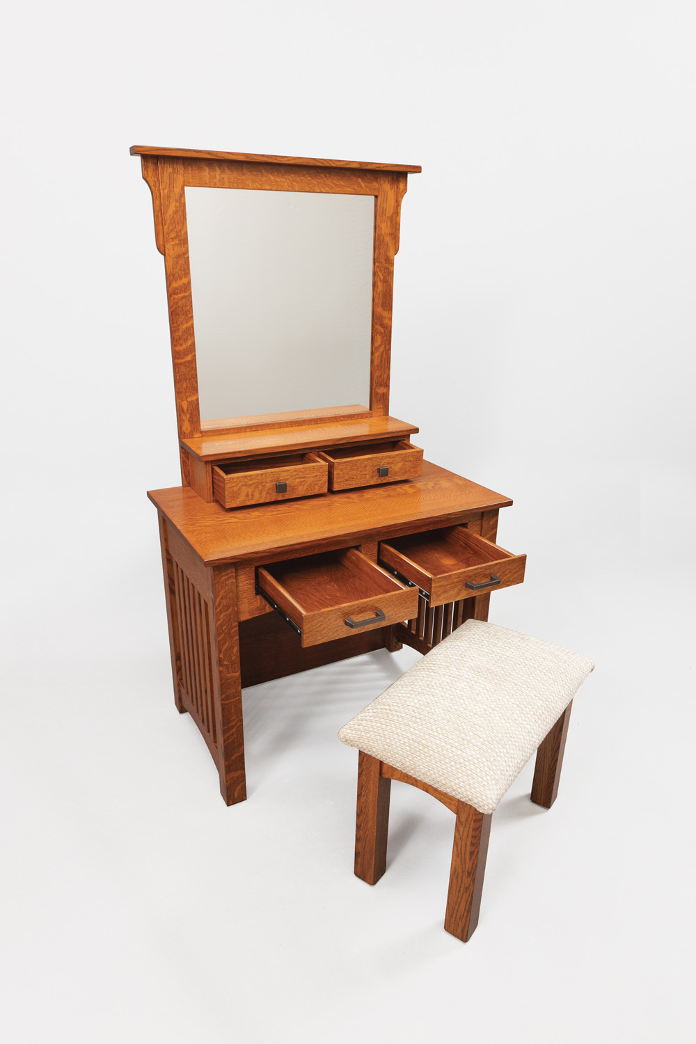 2 Door Mission Dressing Table - Product Alternate Image