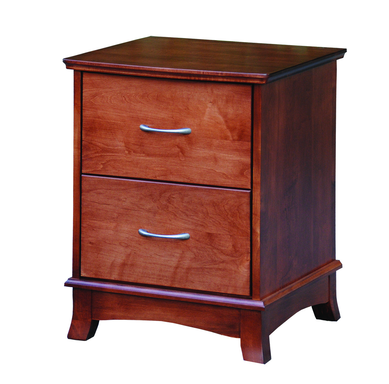 2-Drawer Crescent Nightstand Product