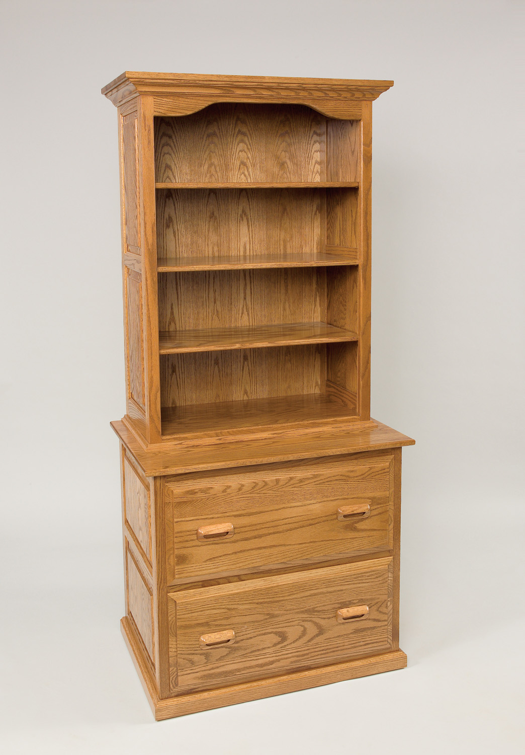 File cabinet bookcase combination hardwood creations