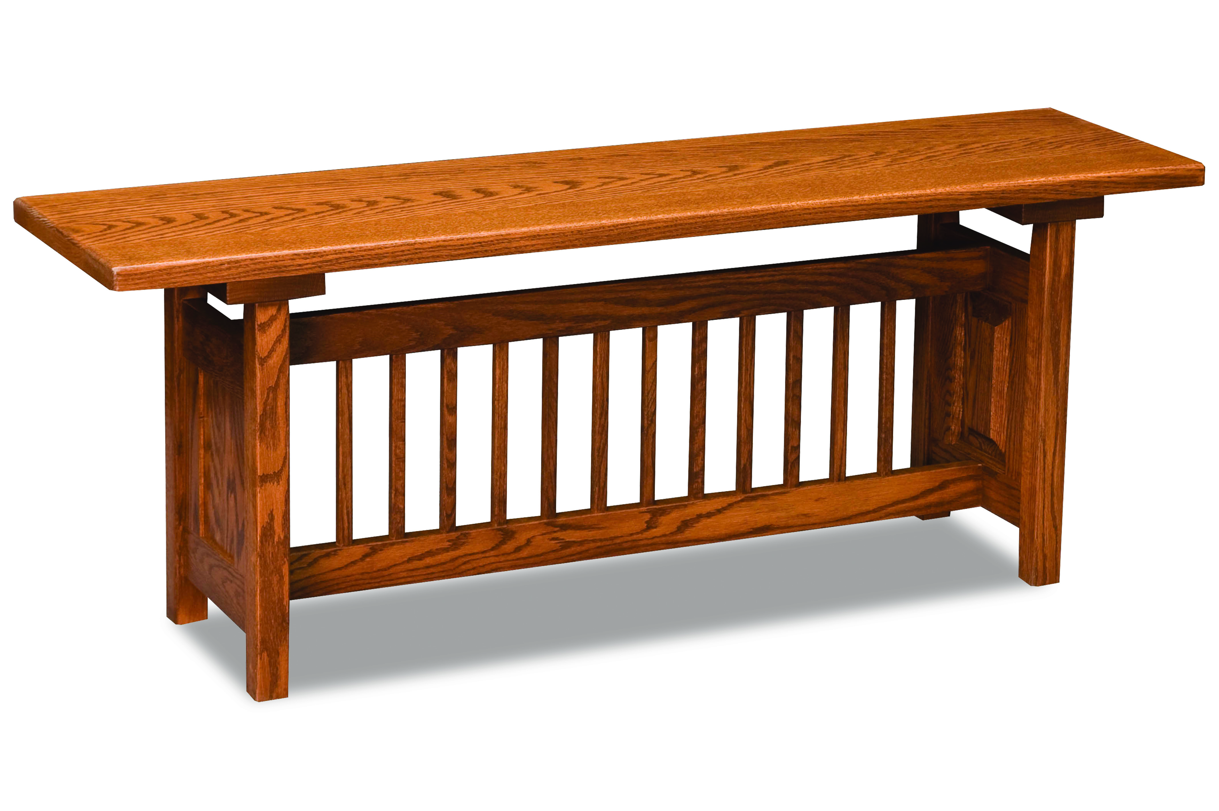 Classic Mission Trestle Bench Hardwood Creations