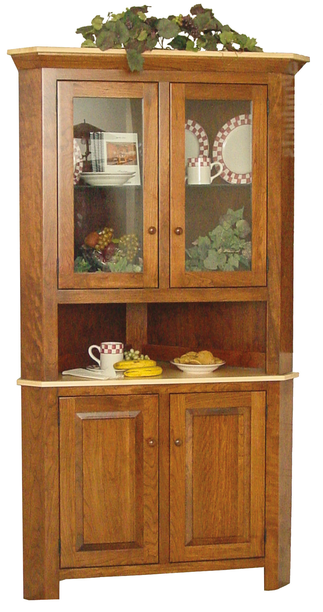 Brookline Corner Hutch Hardwood Creations