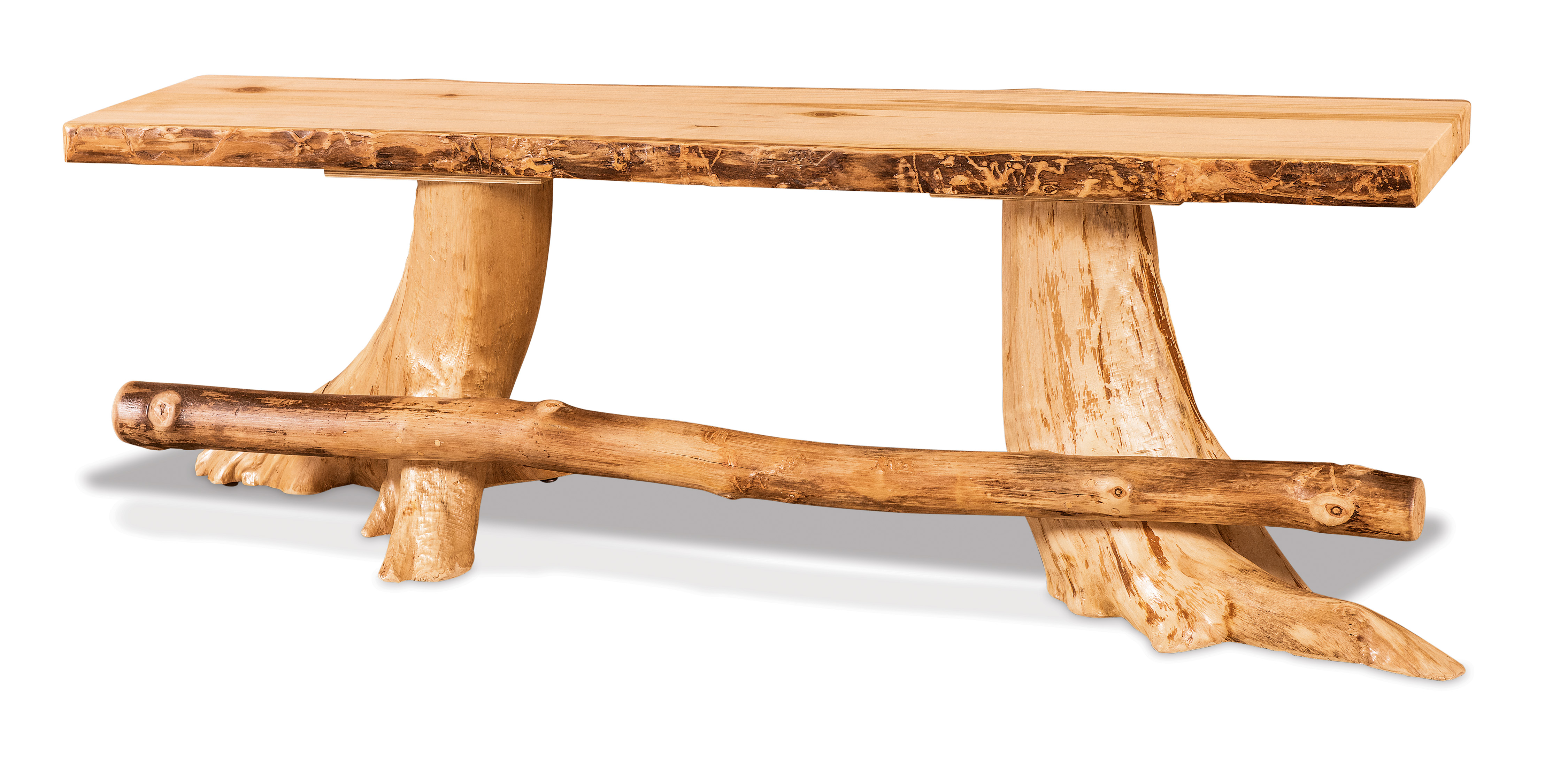 Flat Stump Bench w/Foot Rest Product