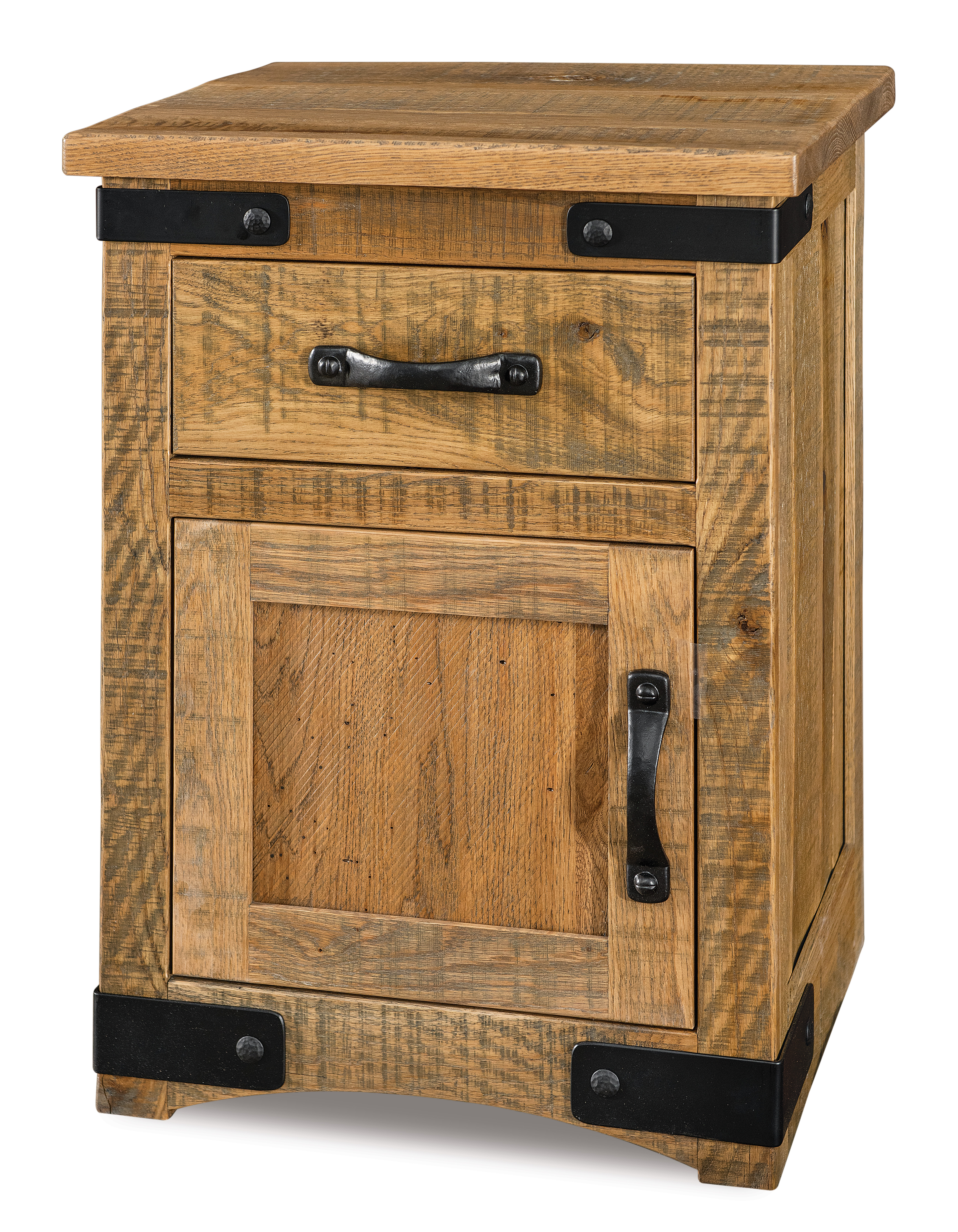 Orewood Rough-Sawn 1 Drawer 1 Door Nightstand Product