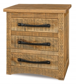 Orewood Rough-Sawn 3 Drawer Nightstand Product